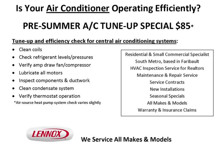 Air Conditioner cleaning and repair special. Faribault, Northfield, Owatonna, Lakeville