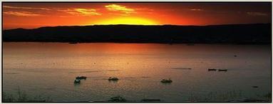 Sunset view of Ana Sagar Lake - Ajmer sharif