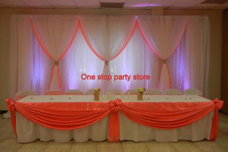 coral wedding backdrop