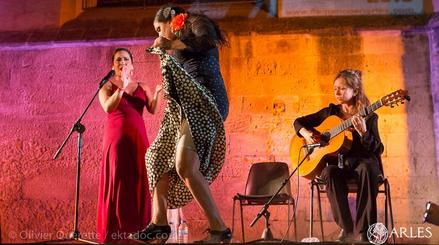 concert of flamenco guitar singing, and dance in Arles, France