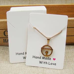 custom necklace card