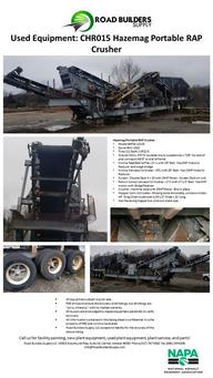 Hazemag Portable Recycled Asphalt Product (RAP) Crusher