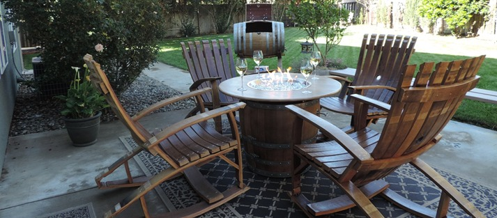 wine barrel outdoor furniture propane fire pit tables wine barrel furniture wine barrel table outdoor chairs arched napa valley wine barrel