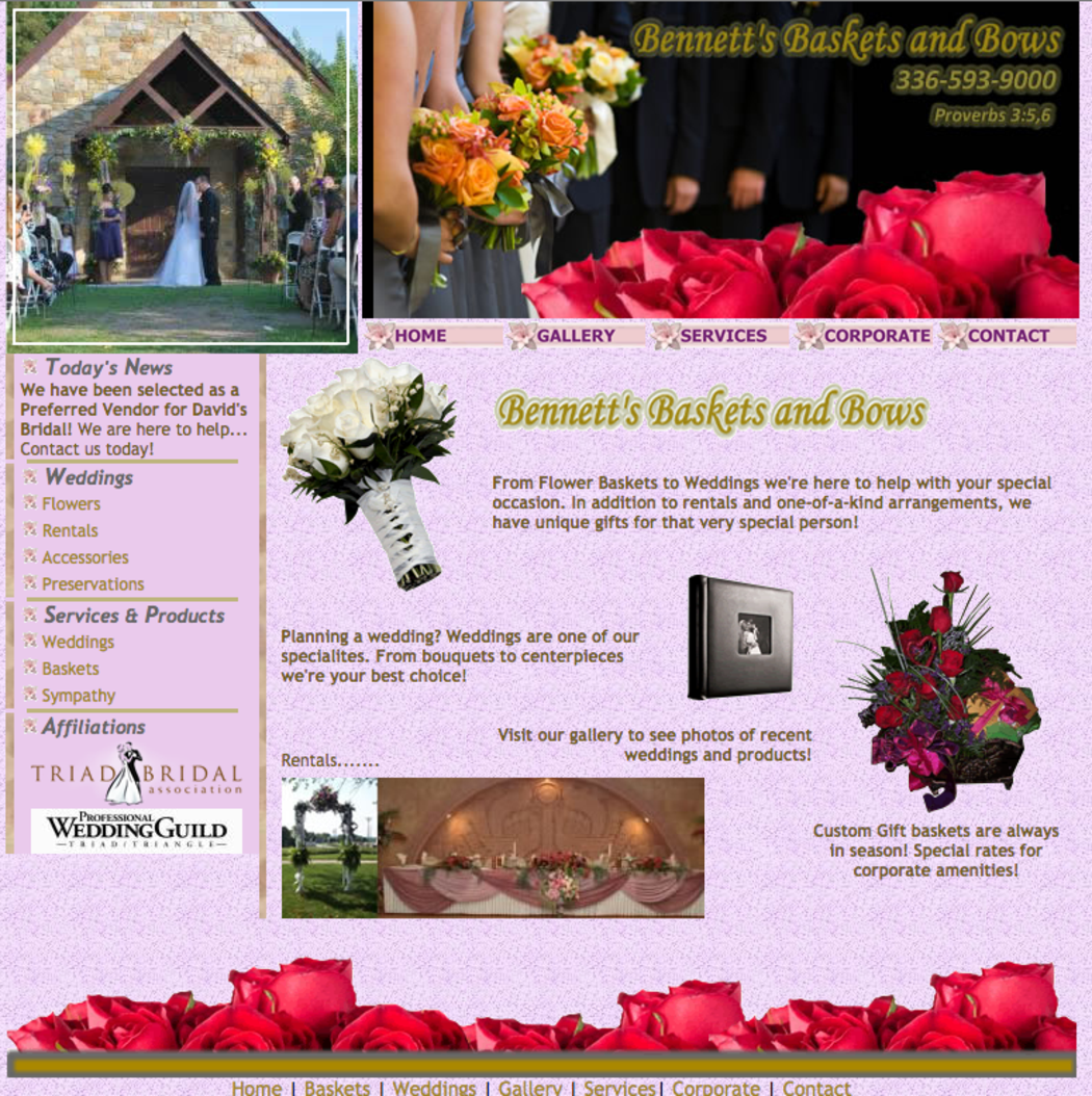 Bennett's Baskets & Bows ~ Preferred Vendor Castle McCulloch