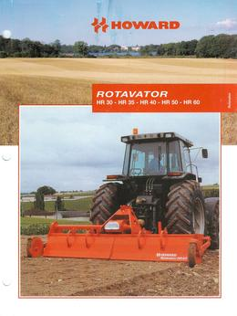 Howard Rotavator Models HR30-HR35-HR40-HR50-HR60 Brochure