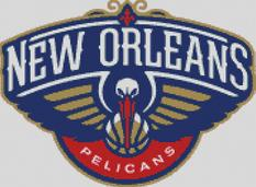 New Orleans Pelicans Cross Stitch Chart Pattern