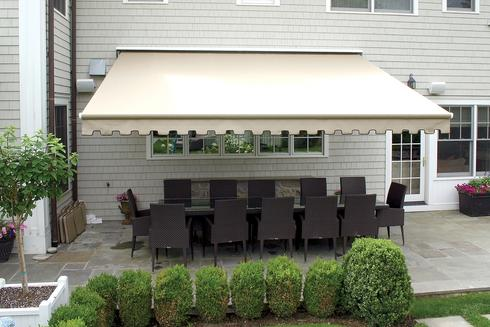 Non-Retractable Awning Installation