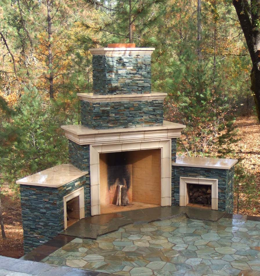 outdoor fireplaces kitchens living spaces southern hardscapes llc