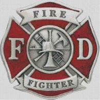 Cross Stitch Chart of Firefighter Maltese Cross