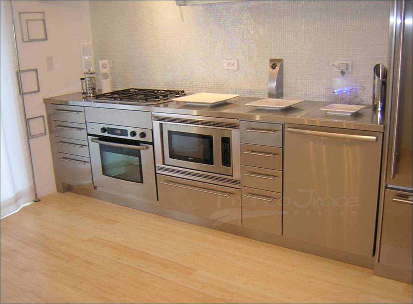 stainless - steel kitchen cabinets
