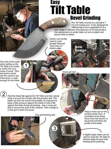 Easy Tilt Table knife Bevel Grinding. FREE downloadable how-to sheet from www.DIYeasycrafts.com