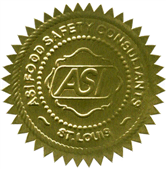 ASI Food Safety Seal of Certification