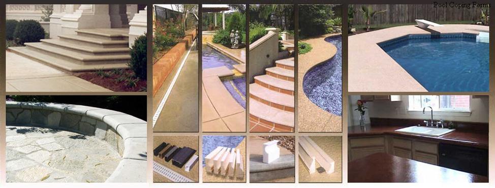 Pool Patio Deck Drain Concrete Coping Forms Clark