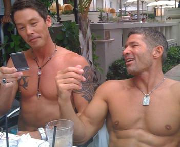 David Bromstad and Jeffrey Glasko