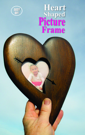 DIY Wood Heart Picture Frame Valentines Day craft project. FREE step by step instructions. www.DIYeasycrafts.com