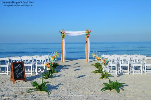 Florida Beach Wedding - Distinctive Design Beach Wedding Package in Siesta Key