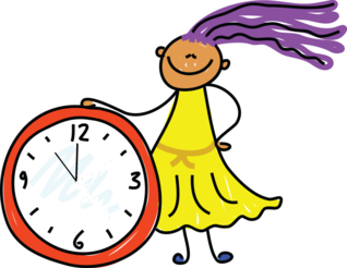 girl with clock picture