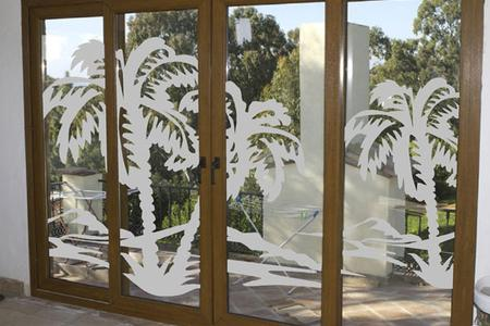 Solar Graphics window films for the home interior design etched white frost picture image