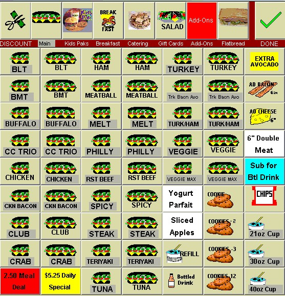 subway inventory count sheet
