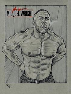 UK Bodybuilder MICQUEL WRIGHT by Cliff Carson