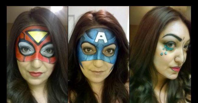 Shine Face And Body Art Face Painting