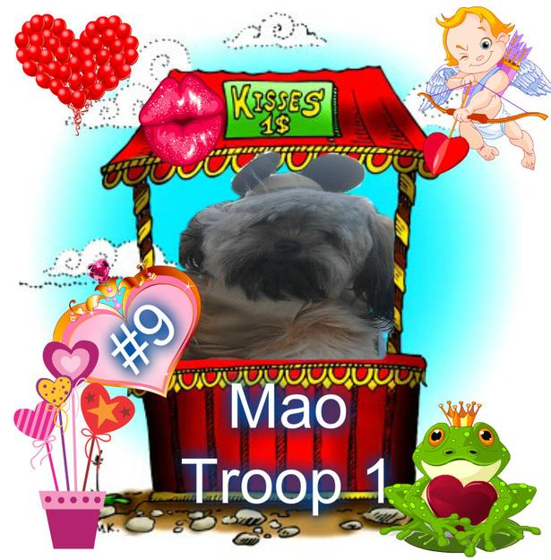Pup Scouts Mao Dog Kissing Booth Smooch a Pooch