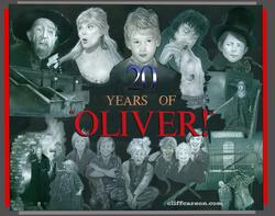 Academy of Motion Picture Arts and Sciences 20th Anniversary to OLIVER! Acrylic on board by CLIFF CARSON