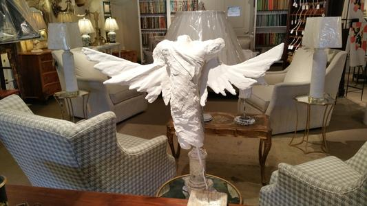 plaster angel new table sized statue sculpture plaster of paris jamey alexander artist
