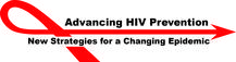 red arrow with text that reads advancing hiv prevention new strategies for a changing epidemic
