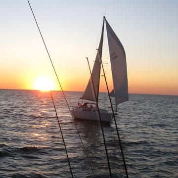 sail boat, gone finishing, michigan sunset, boat insurance michigan