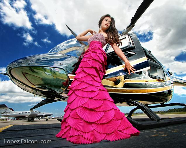 QUINCEANERA WITH AIRPLANE HELICOPTER MIAMI QUINCES