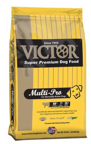 Victor Multi-Pro dog food for normally active dogs