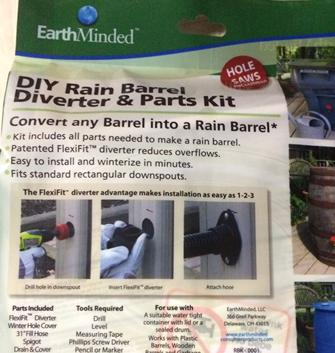 earthminded diy rain barrel kit
