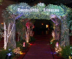 "Enchanted Forest Themed Decor for ""An Enchanted Evening"" Prom Theme"
