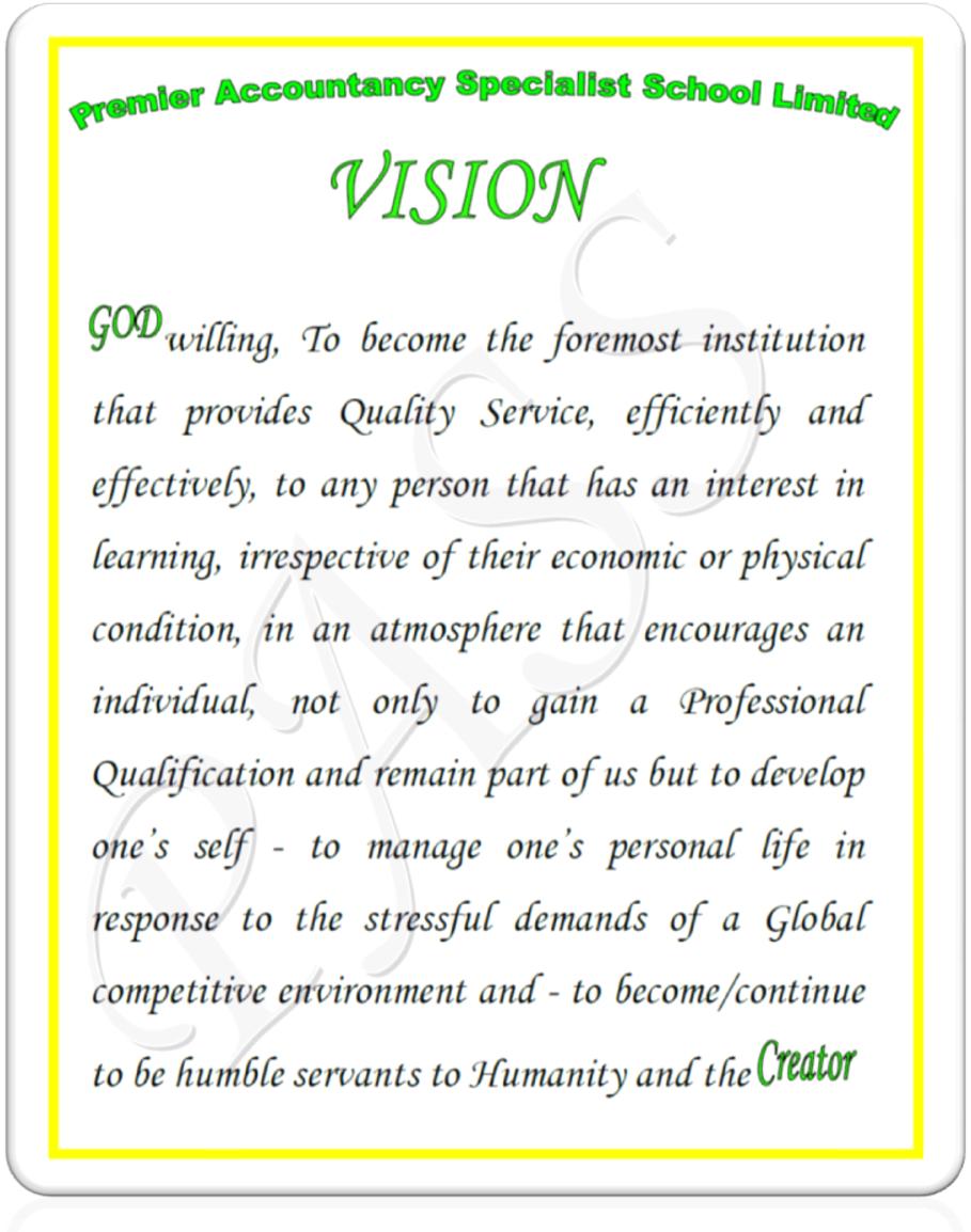 783228224469 Vision Statement