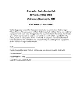 Grain Valley Grad Night Boys Volleyball Tournament