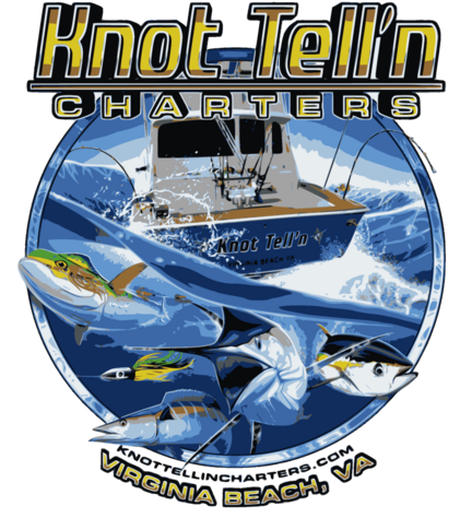 Va. Beach Charter Fishing Boat Logo