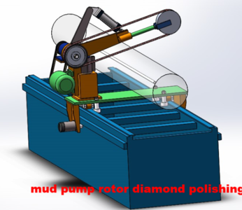 mud pump rotor polishing hvof