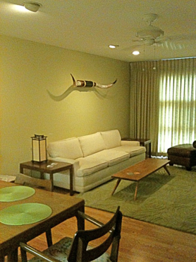 The living room of Blan's House, a furnished, short-term, 3-bedroom, corporate rental house in Victoria TX.