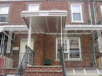 flexiglass zorox plexiglass awning in brooklyn new york