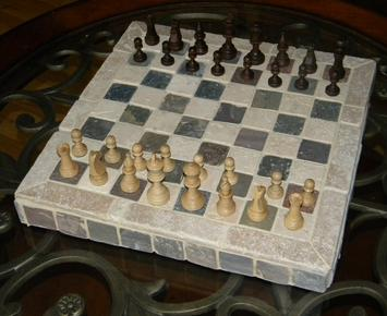 How to make a easy DIY Ceramic Tile Chess or Checkers Board or table.