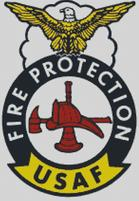 Cross Stitch Chart of USAF Fire Dept