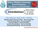 Click-4Advisor Email Based Session Link to Water Medium Channeling Session