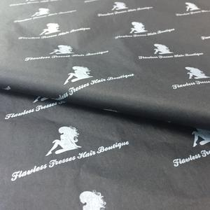 black wrapping tissue paper