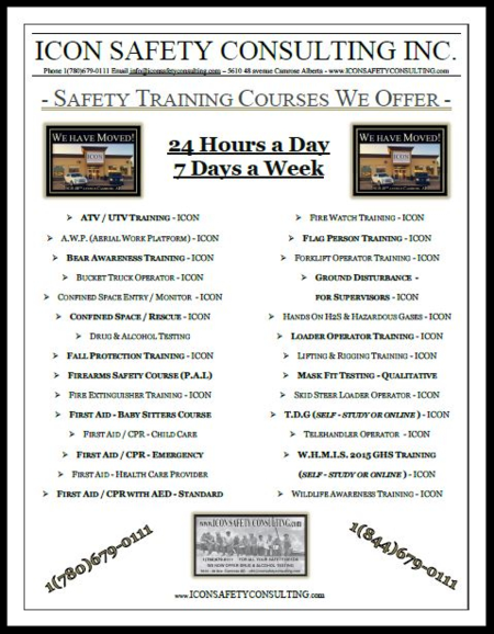 Course List - ICON SAFETY CONSULTING INC.