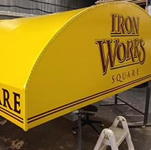 Iron Works Awning by CAT Graphics, Inc.