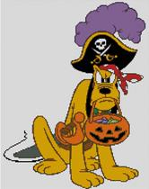 Cross Stitch Chart of Plutos Halloween Pirate