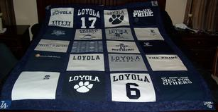 High school sport t-shirt blanket