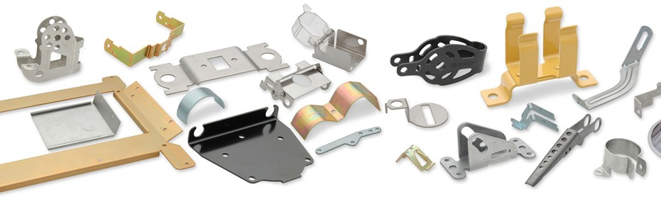 Typical metal stampings produced by Winco Stamping