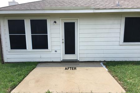 Patio pressure washing job in Spring TX after